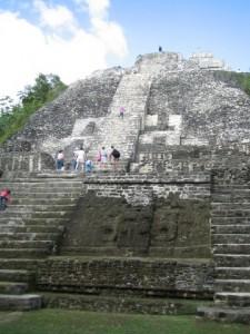 Lamanai High Temple climb